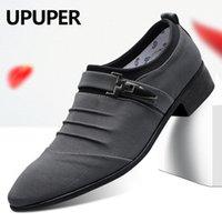 UPUPER Big Size 38-47 Brautschuhe Männer 2020 Mode Spitzschuh Canvas-Kleid-Schuhe Herren Schwarz-Beleg auf Oxfords Formaler Mann Schuhe CX200731