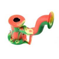 Humb-Back-Siliziumrohr-Silikon-Wasser-Rohrhöhe Mischfarben umfassen das Silizium-Twag-Handrohr DHL