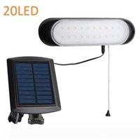 Dividir la luz solar para Shed Garaje Cabina lámpara Separado solares Luces de interior de montaje en pared con cable de tracción para el hogar Casa Habitación