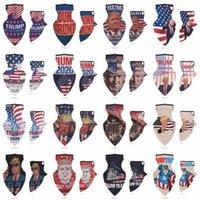 EEUU Stock 16 diseños 2020 Trump triángulo bufandas mágicas que Estados Unidos sea de nuevo por el presidente EE.UU. Donald Trump Elección de las vendas al aire libre FY6070