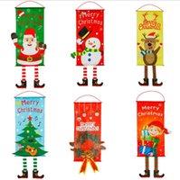 عيد الميلاد الشنق لافتات قماش الإبداعية شنقا العلم النافذة قلادة تعليق على الحائط الاثنان زينة عيد الميلاد الديكور 6 تصاميم BT40