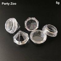 500 X 5G / 5ml Löschen Small Diamant-Form-Creme-Glas für kosmetischen Probenbehälter Becher Frisch