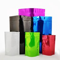 Multi tailles et couleurs Zip brillant verrouillage Stand Up emballage Sacs de stockage des aliments Zipper Mylar Seal Foil Sacs Pouches