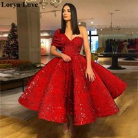 Rote Abiballkleider Ballkleid Ballkleider Roben für Frauen Fluffy formale Partei-Nacht Qualitäts-elegante Pailletten Abendkleider