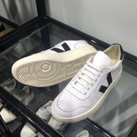 New Mens Veja V-10 couro extra Sneakers Mulheres ESPLAR bezerro Trainers Moda Branco Low-top Chaussures respirável Running Shoes US4-11