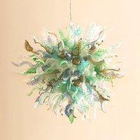 Art Deco Kolye Lambaları Ağız Üflemeli Cam Avize Aydınlatma, Küreler, Spiraller, Yaprak, Katlanmış Şekil Dekorasyon Kolye Işık Fikstür Çok Renkli Kapalı Işıklar-L