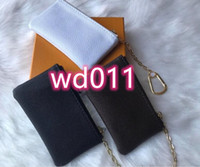 عالية الجودة مع مربع اللون 6 KEY بو الجلود تحمل الشهيرة النساء الكلاسيكية حامل مفتاح عملة محفظة السلع الجلدية الصغيرة حقيبة