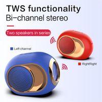 4Colors X6 하이 엔드 하이파이 Blueteeth 스피커는 휴대용 무선 Blueteeth 5.0 스테레오 메가베이스 사운드 사운드 바 FM TF 카드 AUX 미니 스피커를 TWS