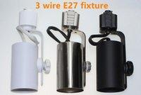 3 fili E27 Par30 / Par38 dispositivo della pista di illuminazione o staffa speical per il Nord America e memorizzare europeo illuminazione alluminio traccia Fixtur
