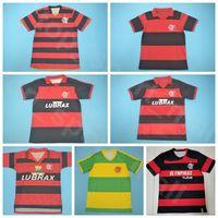 1982 1988 1990 1990 CR Flamenco Retrour de futebol Jersey Vintage Guerrero Diego 11 Romario 10 Adriano Team Vermelho Branco Camisa de Futebol Kits uniforme