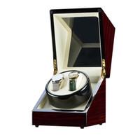 Pudełko Mechaniczne Placer Double Watch Maszyna do nawijania Automatyczne obrotowe drewniane przechowywanie szafki