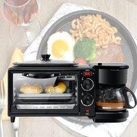 HL-9L 220V ~ 50Hz elétrica 3 em 1 hóspedes equipamento multifunções Mini Drip americana Cafeteira Forno de Pizza Egg Omelette Frigideira Torradeira