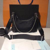 2020 مصمم حقائب الكتف الفاخرة عالية الجودة نايلون حقائب الأكثر مبيع محفظة النساء حقائب حقيبة crossbody hobo المحافظ مع مربع