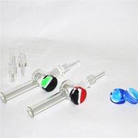 Nargile Cam Nektar Kollektörleri ile 10mm 14mm Kuvars İpuçları Keck Klip Silikon Konteyner Reclaimer Nector Toplayıcı Seti Sigara İçmek için
