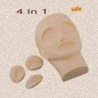 4 en 1 Maquillage permanent de haute qualité 3D Sourcils Lèvres peau pratiques de tatouage avec 2pcs tête malléable yeux + 1Pc Lip Rb3p #