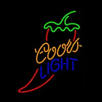 Coors Light Chili Pepper Mexico Neon Sign Handmade Real Glas...