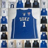 NCAA Duke Blue Devils College Basketball Nähed Jersey 3 Tre Jones 1 Vernon Carey Jr. Kevin Irving 34 Carterjr 15 Okafors S-3XL