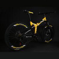 Variabile 21 velocità velocità della bici di montagna 26/24 pollici Mountain Bike Integrated ruota di piegatura Student freno a disco bicicletta