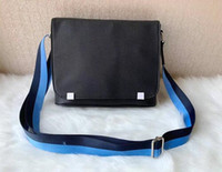 Berühmter Bezirk Uhr Tasche berühmter Crossbody Handtasche Männer Leinwand Schultergurt Messenger Bags Umhängetasche Schule bookbag Schulterbeutel VL43071