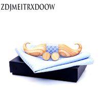 Beard laço floral Vintage de madeira Padrão Bow Tie Pássaro Bowknots Collar Gravatás Cravat Ties clássico Bowtie Madeira para Mens