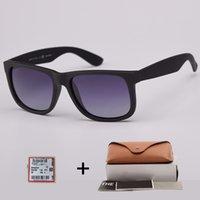 Top Calidad 4165 Moda Gafas de sol polarizadas Hombres Mujeres Gafas de sol Justin Marco de nylon Gafas de sol con accesorios