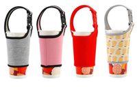 Soporte para vasos sumergible material de la botella portátil de almacenamiento de soporte leche té café Mano bebida cubierta de tela anti escalda potable