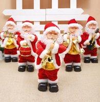 الرقص 5style الكهربائية بابا نويل لعبة عيد الميلاد وآلات موسيقى سانتا كلوز عيد الميلاد دمية للأطفال حزب زينة عيد الميلاد GGA3561