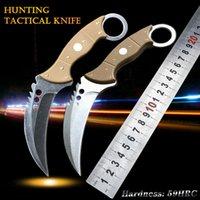 9CR18MOV 높은 경도 방어 전갈 발톱 칼 방어 발톱 칼 생존 세이버 야외 자기 방어 휴대용 칼, EDC