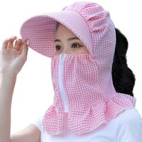 Summer Hat Ladies Motorcycle Face Cover Protection Riding Ve...