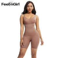FeelinGirl Mulheres Empresa Full Body Shaper cintura instrutor emagrecimento barriga controle lingerie sem costura sob o vestido Mulheres Corset Fajas MX200711