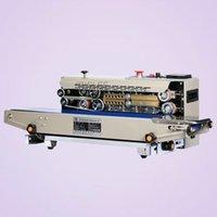 2020 SICAK Ticari Plastik Poşet Sealer Paketi Makinası Sürekli Film Bant Sealer Yatay Isıtma Sızdırmazlık Paketleme Makinası