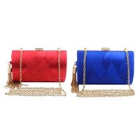 Womens Elegant Tassel Pendant Silk Evening Party Clutch Bag ...