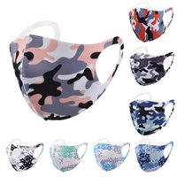 Pieghevole proteggere maschera viso camouflage maschera per la bocca traspirante maschere per la bocca per adulti uomini donne 4 colori all'ingrosso