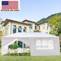 في الهواء الطلق ظلال المنزل حزب الخيام المحمولة الأبيض المظلة 3 × 6M ستة جوانب اثنين الأبواب خيمة للماء مع أنابيب دوامة
