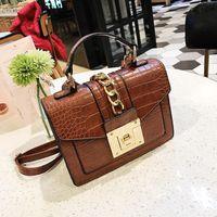 Designer- 2020 الجديدة حقائب التمساح الكتف المرأة مصمم سلسلة حقائب فاخرة بو Leatehr CROSSBODY حقيبة للنساء الصغيرة رفرف Famale المحافظ