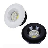 110V 220V 12V Dimmable LED Downlights ronde COB Mini spot encastré Led lampe vers le bas pour Cabinet Accueil Lumières pour vitrine pilote inclus
