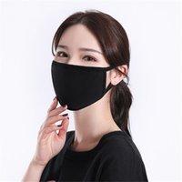 Preto Cotton Máscara Máscaras Moda Classic Máscara lavável reutilizável Dustproof pano For Man Mulher Protective Products LJJA5830