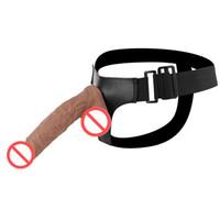 Realistic Dildo Elastic Harness Strap On Dildo strap-on dildo adultos do sexo brinquedos para Casais Mulheres Gay J1747