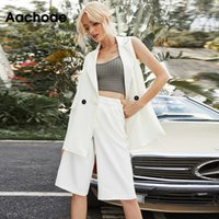 Aachoae Women Fashion Solid Two Piece Set 2020 Office Wear D...