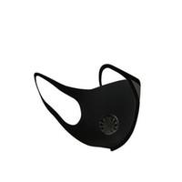 Wiederverwendbare Atemventil Gesichtsmaske Waschbar Schwarz Antistaub PM2.5 Respirator Staubdichtes Antibakterielle Mundschutz Auf Lager