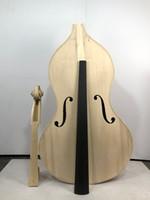 Il miglior ebano senza colorare, bianco intagliato a mano bianco / non finito 3/4 bassi verticali, legno massello e acero europeo