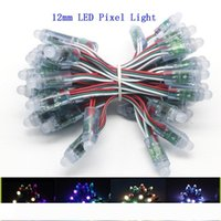 WS2811 LED Pixels módulo string 12mm cor completa individualmente Corda endereçável Digital LED RGB Luz DC5V IP68 Waterproof