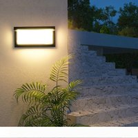 조명 제어 모션 센서 야외 벽 조명 20W IP65 방수 외부 벽 램프 주도 계단 현관 조명