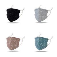 5 cor moda lantejoulas máscara protetora lavável respiração à prova de vento reutilizar máscara de rosto elástico impermeável à prova de poeira à prova de máscara ajustável