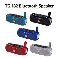TG182 Güneş Enerjisi Bluetooth Hoparlör Taşınabilir Kolon Kablosuz Stereo Müzik Kutusu Güç Bankası Boombox TWS 5.0 Açık Destek TF / USB / AUX Yeni