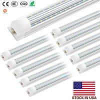 통합 된 V-모양의 더블 행 72W 120W 크리어 LED 형광은 AC85V-265V 미국 주식 조명 4 피트 8피트 LED 튜브 조명