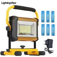 LED Workight portable rechargeable Projecteur Projecteur d'extérieur travail à la main d'urgence Lampe étanche pour Camping Garage