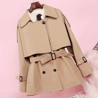 2020 New Fashion Women Long Trench Coat Spring Autumn Vintag...