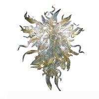 Античная листья Люстра Рука выдувное стекло LED люстры освещение Fancy подвесные светильники Главная Murano Листва освещение Бесплатная доставка