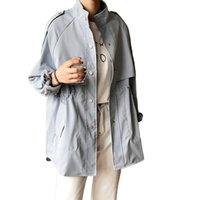 Женщины Блузки Рубашки Tangada Женщины Негабаритный Синий Требовый Пальто 2021 Мода Элегантные Длинные Женщины Свободные Топы Высокое Качество ASF30